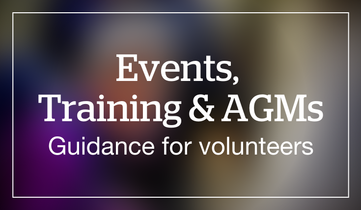 Events. training and AGMs