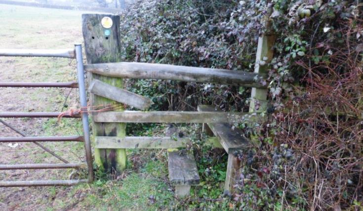 The stile beforehand