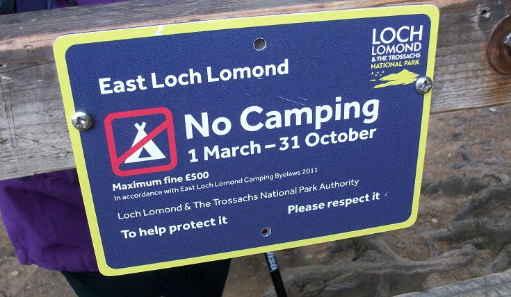 East Loch Lomond sign