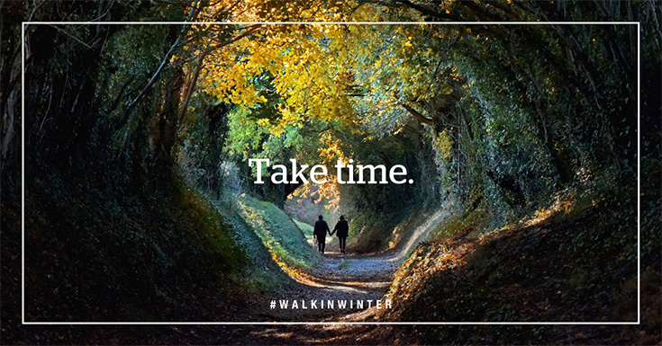 Take time. #walkinwinter