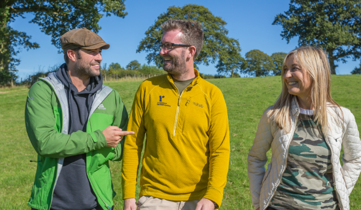 Peoples Postcode Lottery Ambassadors walk The Cambrian Way