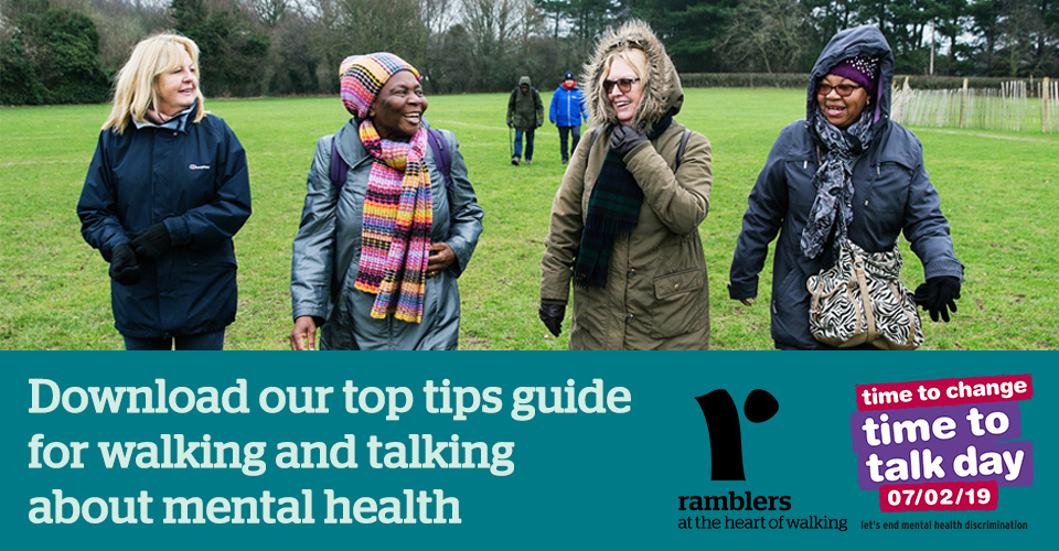 Download our top tips guide for walking and talking about mental health