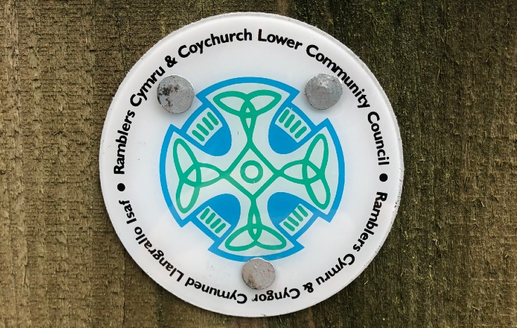 Paths for People Coychurch Waymarker