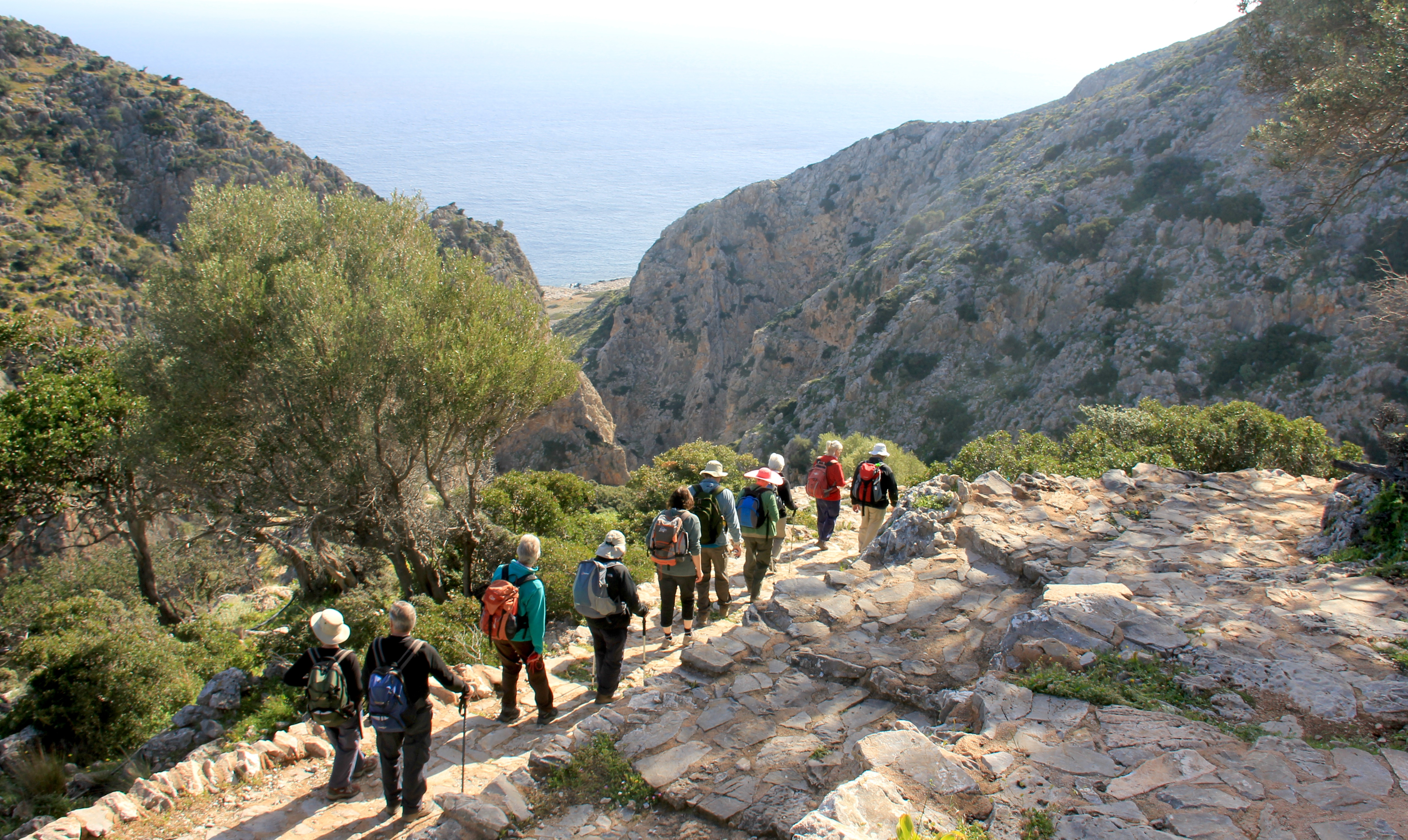 Gorge walking West Crete