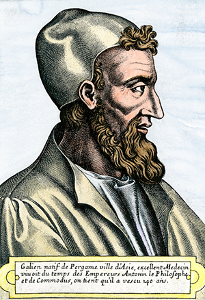 Colour illustration of Galen