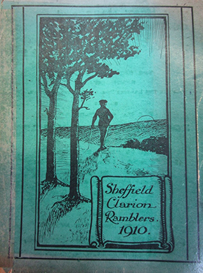 Cover of 1910 Sheffield Clarion Ramblers book