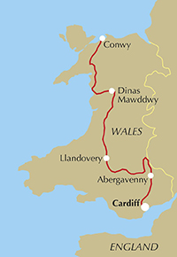 Route map of the Cambrian Way