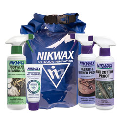 A collection of Nikwax products