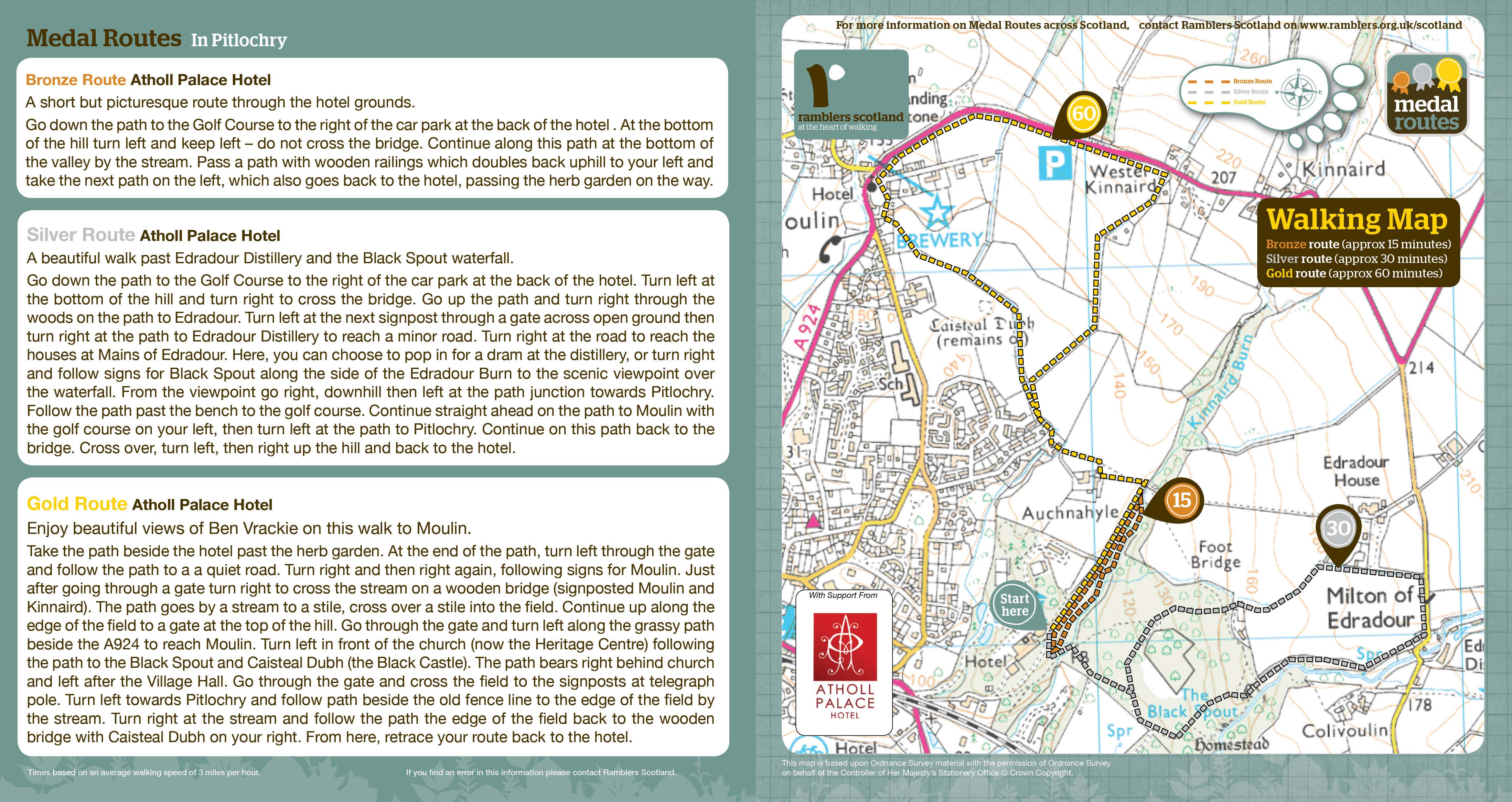 Pitlochry Scotland Map.Perth Kinross Council Pitlochry Path Network