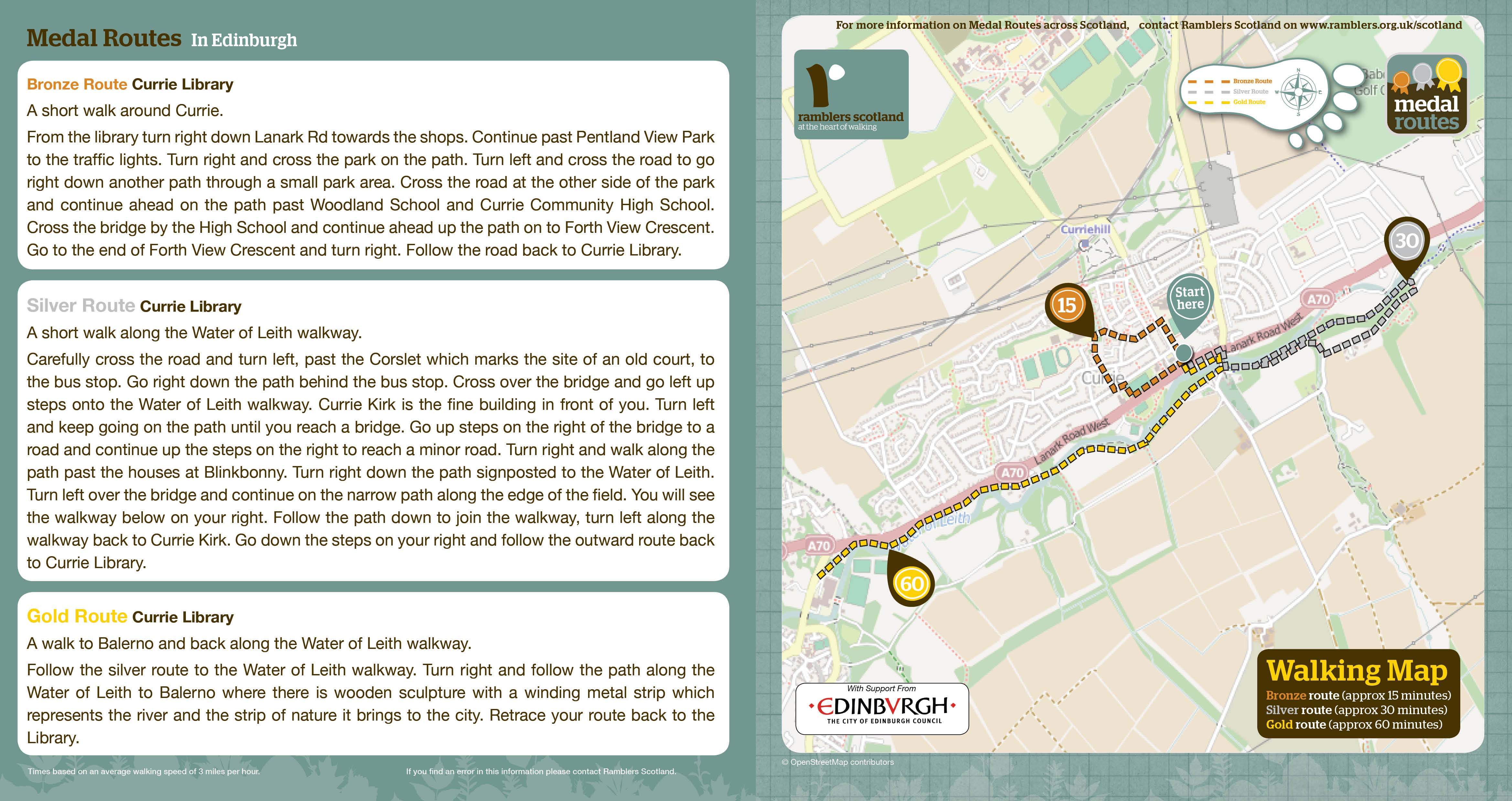 Walking In Your Area Walks And Events The City Of Edinburgh Council - Map your walking route
