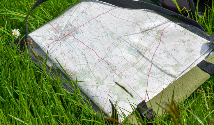 Map in the grass