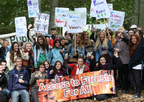 Access to forests for all campaigners