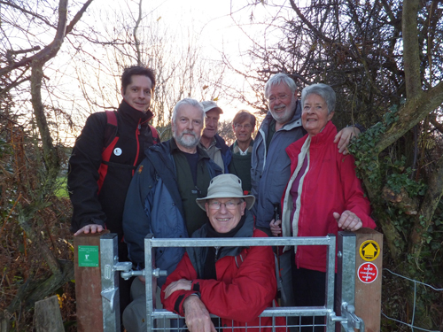 Ramblers volunteers by gate