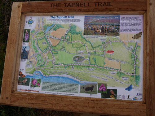 A Tapnell Trail information board