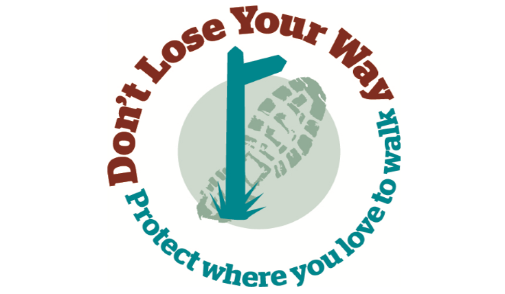 Dont Lose Your Way campaign logo