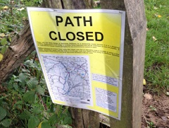 Path closure notice