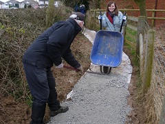 BRamblers and Anastasia repairing a popular path