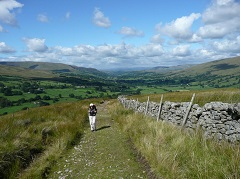 Chris Grogan walking away from Dentdale