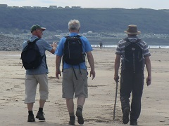 Walking with Simon Armitage at Westward Ho!
