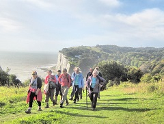 White Cliffs Ramblers walking on the clifftops
