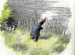 Mole from Kenneth Grahame's Wind in the Willows, by EH Shephard