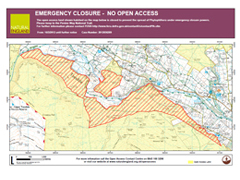 Emergency closure North Pennines map