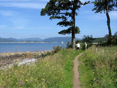Walking along the Inverclyde coast