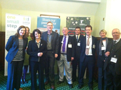 Public Health Minister Jane Ellison with Ramblers staff