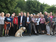 The Brighton and Hove Ramblers with Caroline Lucas