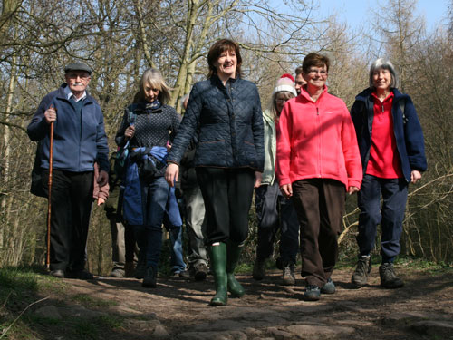 Nicky Morgan MP with the Loughborough Ramblers
