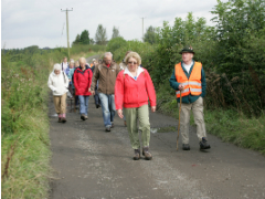 Group walk in Scotland