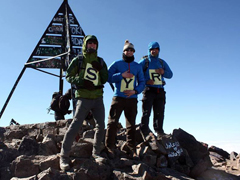 Shropshire Young Ramblers on Mount Toubkal