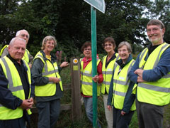 Trafford Ramblers path maintenance team