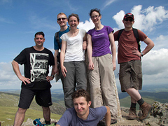 Walkers on a hilltop (image credit Verity Gray/Shropshire Young Ramblers)