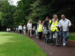 Walking for health walk in park