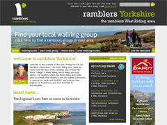 West Riding Ramblers website screen grab