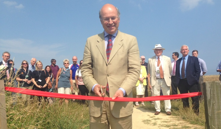 Rural Minister Lord Gardiner opening the tenth stretch of the England Coast Path
