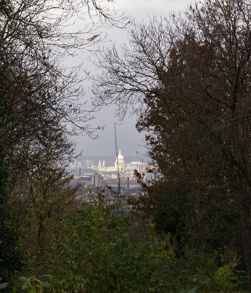 Resized St Paul's from Norwood Cemetery