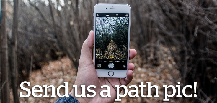 Send us a photo from a path