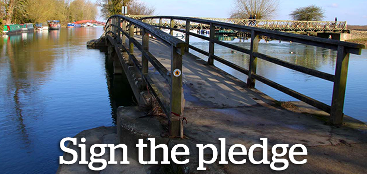 Sign the pledge for paths now