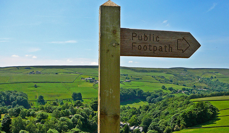 Footpath sign England