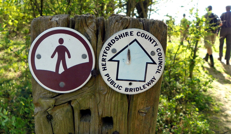 Countryside access sign