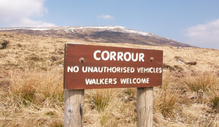 Corrour sign for Walkers