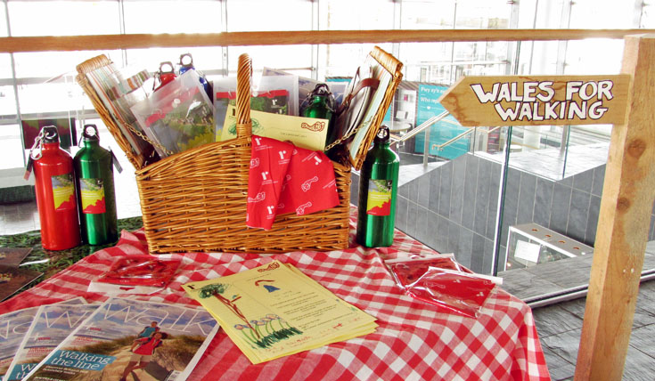 """Wales for Walking"" display stand at the Senedd"
