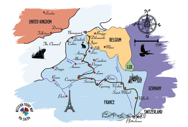 Illustration of the Way through France and Belgium