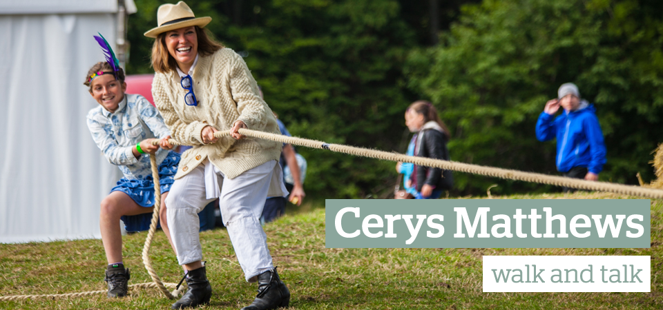 Cerys Matthews walk and talk slider