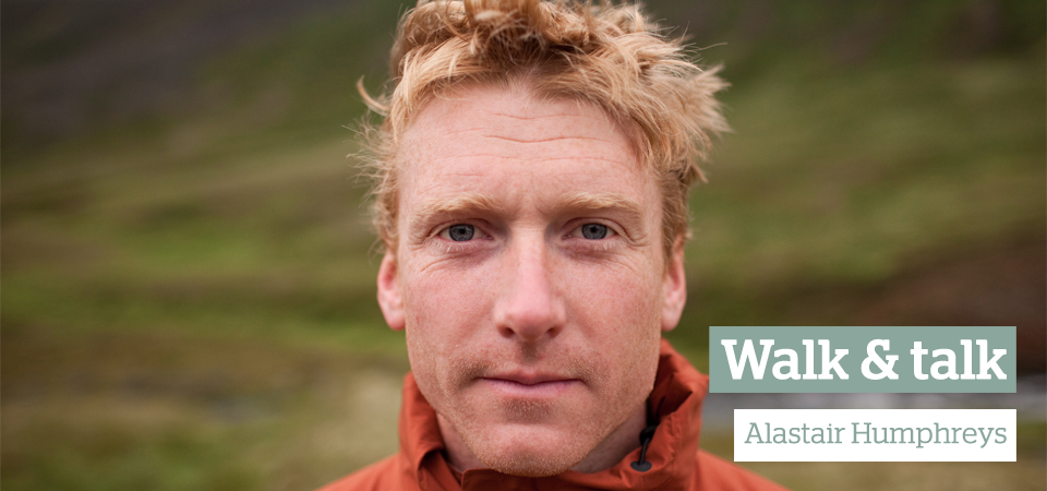 Walk and talk interview with Alastair Humphreys
