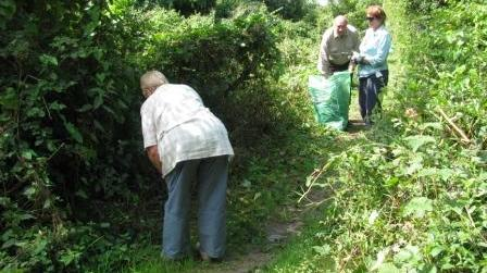 Path clearance near Headstone Lane [Barbara Luke]