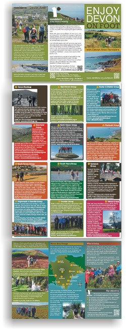 ramblers - Devon Area brochure - with details of the twelve area groups in Devon
