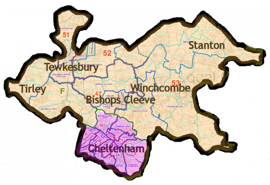Map Of England Gloucestershire.Cleeve Ramblers